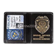RESIDENT EVIL STARS CHRIS POLICE METAL BADGE WITH ID WALLET HOLDER CASE - 38020