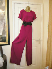18 FEARNE COTTON JUMPSUIT BRIGHT MAGENTA WIDE LEG WEDDING SUMMER HOLIDAY NEW