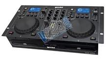 Gemini Pro Dual Twin CD MP3 USB DJ Media Player Console 2-Channel Mixer System