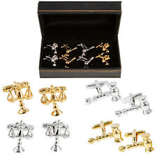 Lawyer Attorney Judge Gavel Scales of Justice 4 Pairs Cufflinks Fancy Gift Box