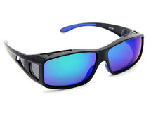 Blue Polarized lens Men's Sunglasses Sports Goggle Wear Fit Over Glasses
