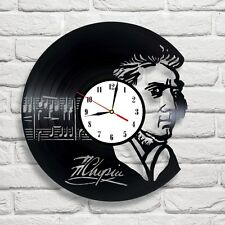 Frederic Chopin design vinyl record wall clock art home office bedroom hobby