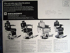 1950's Vintage 4 Barbershop Belmont Chairs Photo Brochure Sign Ad w Features