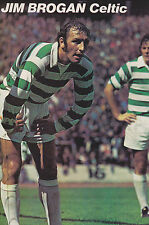 Football Photo JIM BROGAN Celtic 1960s