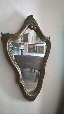 Antica coppia specchi Applique legno oro - C220 -