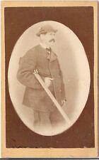 CDV photo Feiner Herr / Jäger mit Gewehr - Österreich 1870r
