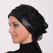 NEW Fancy Women Bonnet Cancer Chemo Hijab Turban Cap Beanie Stretchable scarf555