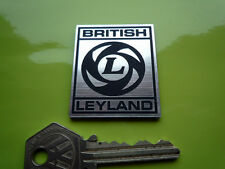 BRITISH LEYLAND Square style Self Adhesive Car or Helmet Badge Triumph MG Mini