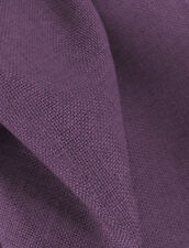 Drapery Fabric Colored Polyester Burlap Tight Weave Anti-Wrinkle - Eggplant