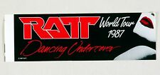 RATT Dancing Undercover World Tour 1987 Vintage Sticker Decal 12 x 3.75