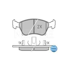 MEYLE 21975 Brake Pad Set, disc brake MEYLE-ORIGINAL Quality 025 219 7617/W