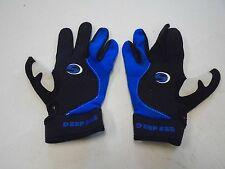 Deep See Sea Black Scuba Gloves S Small Blue Water Sports