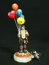 ARTIST RON LEE SIGNED 2002 EMMETT KELLY CLOWN BALLOON SELLER FIGURINE 269/550