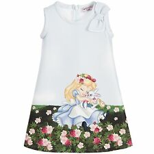 Authentic Monnalisa Bebe Girl Alice In Wonderland Dress New With Tag 36m