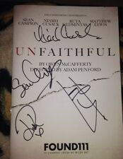 UNFAITHFUL SIGNED PROGRAMME BY 4 CAST MATTHEW LEWIS NIAMH CUSACK JOHN CAMPION