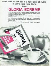 PUBLICITE ADVERTISING 116  1965  le lait  Gloria ecrémé
