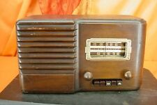 Vintage 1939 Sears SILVERTONE 7251 Wood Cabinet TUBE RADIO ~ ART DECO DESIGN