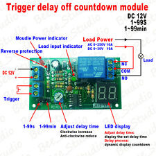 DC 12V Digital LED Display Trigger Timing Timer Delay Turn OFF Time Relay Module