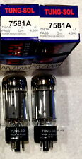 Tung-Sol Factory Platinum Matched PAIR  NEW NIB 7581A 7581 (6l6 type) tubes TWO