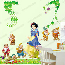Huge SNOW WHITE Princess Wall Stickers Decor Art Decals Girls Kids Children Room