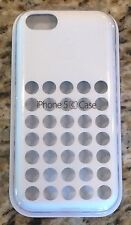 Genuine Apple iPhone 5C Case Perforated/Holes White, MF035ZM/A BRAND NEW in FSC
