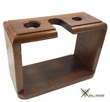 Vintage Wooden Stand for Safety Razor Straight Razor, Shaving Brush