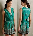 New Anthropologie Papillion Romper by Elevenses sz S M Pretty & Flattering Print