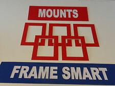 25 x RED PICTURE/PHOTO MOUNTS 10x8 for 8x6