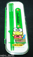 Sanrio Japan Kero kero keroppi Bento Spoon Chopsticks Set School Lunch Accesorie