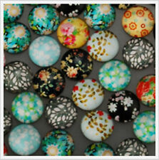 34 x Glass Cabochons for Earring Studs 14mm in Pairs For Earring Studs