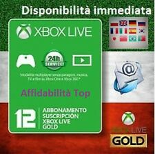 Xbox live gold Global key 12 mesi 1 anno