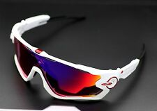 CUSTOM OAKLEY JAWBREAKER POLISH WHITE TDF PRIZM ROAD ANODIZED RED TOUR DE FRANCE