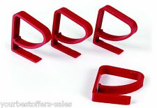 Camco 44003 Tablecloth Clamps 4Pcs Red Table Clamp Table Cloth Holder Brand New