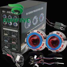 "Car BI-Xenon HID projector lens kit with double angel eyes bulb headlights 2.5"""