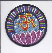 """3"""" Lotus Flower Om Iron On patch YOGA Aum om infinity hindu indian ॐ patches"""