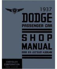 Factory Shop - Service Manual for 1937 Dodge Passenger Cars