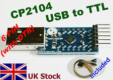 CP2104 USB to TTL UART 6pin Converter Module Arduino Raspberry Atmega -UK Stock