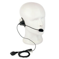 D-Shape PTT Earpiece Headset with boom Mic for Kenwood Baofeng UV5R Retevis TYT