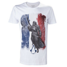 Assassins Creed Unity T-Shirt Größe S (small) Arno French Tricolore Flag White