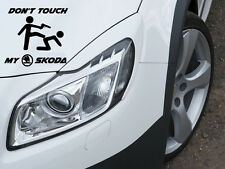 Don't Touch my Skoda RS Aufkleber Sticker Motorsport Sport Mind Decal 12x10cm