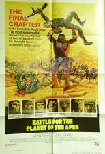 "VTG 1973 ""BATTLE FOR THE PLANET OF THE APES"" US 1SH 27X41 ORIG MOVIE FILM POSTER"