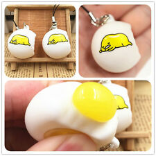 Novelty Funny Lazy Egg Gudetama Squeeze Reliever Stress Venting Ball Pendant Toy