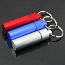 Container Holder Aluminum Creative Pill Box Case Bottle Cache Drug Key Chain