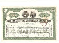 Alte Aktie USA Stock Wertpapier Lehigh Coal & Navigation Company 1936