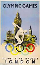 London Olympics Great Britain Vintage Travel Advertisement Poster Picture Print