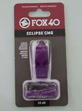 FOX 40 ECLIPSE Purple CMG Official Whistle Black Breakaway lanyard SPORTS SAFETY