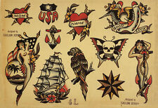 Sailor Jerry Tattoo Art Flash #4   13 x 19 Photo Print