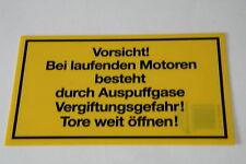 Hinweis Schilder Vorsicht bei Laufenden Motoren  Garagen Verbotsschilder  Neu