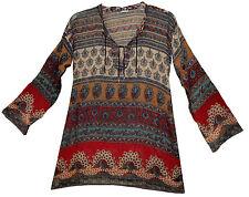 Indian cotton BLOUSE TOP BOHO ETHNIC hippie WOMEN EHS TUNIC BLUSA  retro gypsy