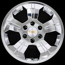 "4 Chrome 2014-2017 Silverado 1500 18"" Wheel Skins Hub Caps Alloy Rim Full Covers"